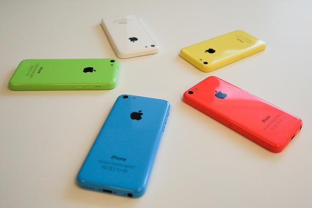 iPhone 5c lines on screen